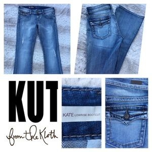 Kut from the Kloth Jeans Sz 4 So Low bootcut